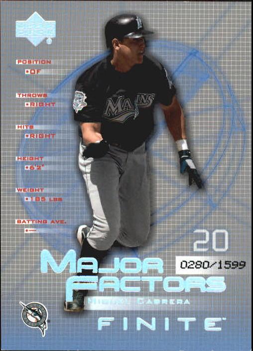 2003 Upper Deck Finite #133 Miguel Cabrera MF