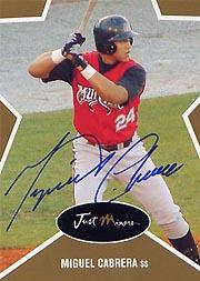 2003 Just Stars Autographs Gold #7 Miguel Cabrera