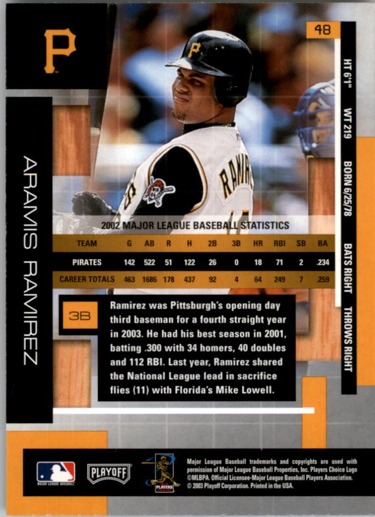 2003 Absolute Memorabilia #48 Aramis Ramirez back image
