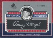 2003 SP Legendary Cuts Historical Impressions Silver #CS Casey Stengel