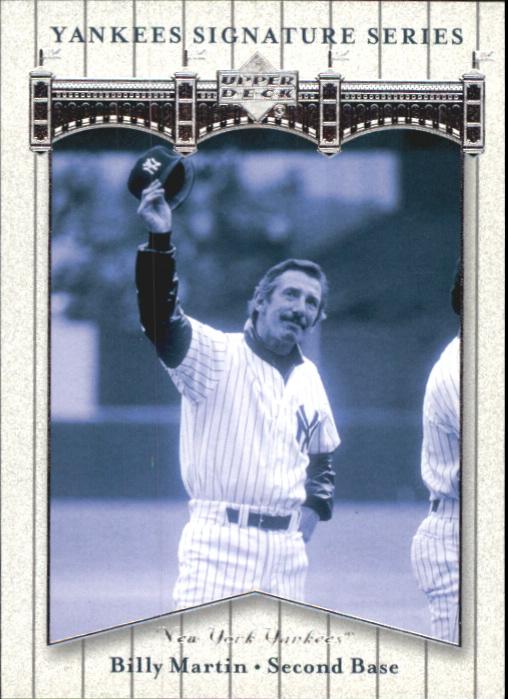2003 Upper Deck Yankees Signature #6 Billy Martin