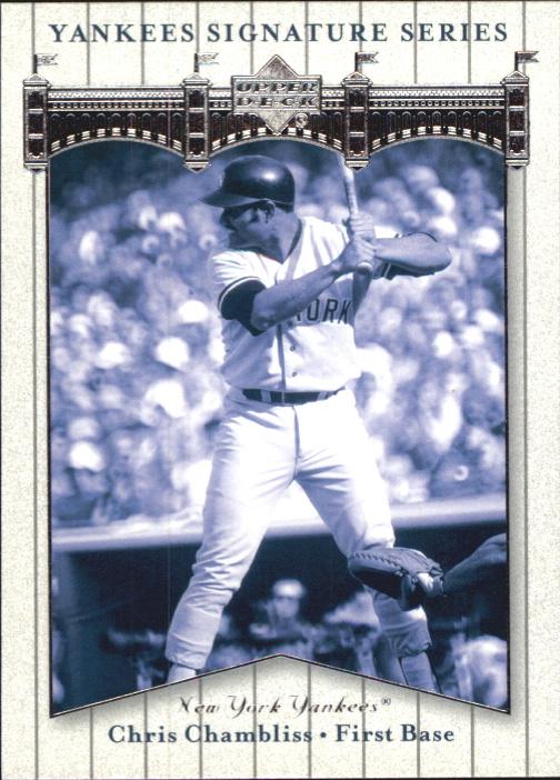 2003 Upper Deck Yankees Signature #17 Chris Chambliss