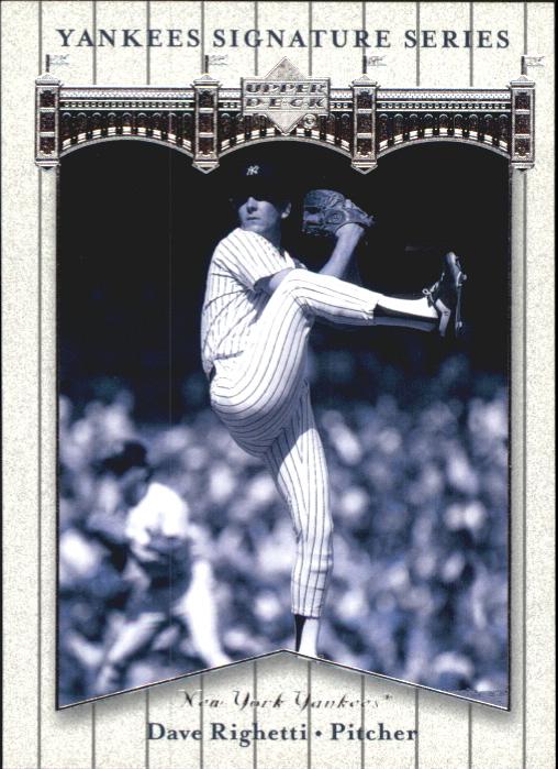 2003 Upper Deck Yankees Signature #20 Dave Righetti