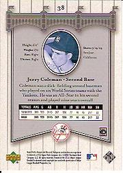 2003 Upper Deck Yankees Signature #38 Jerry Coleman back image
