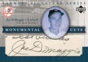 2003 Upper Deck Yankees Signature Monumental Cuts #JD Joe DiMaggio/4