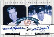 2003 Upper Deck Yankees Signature Pinstripe Excellence Autographs #BR1 Hank Bauer/Phil Rizzuto