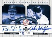2003 Upper Deck Yankees Signature Pinstripe Excellence Autographs #GM Ron Guidry/John Montefusco