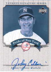 2003 Upper Deck Yankees Signature Pride of New York Autographs #CA1 Johnny Callison