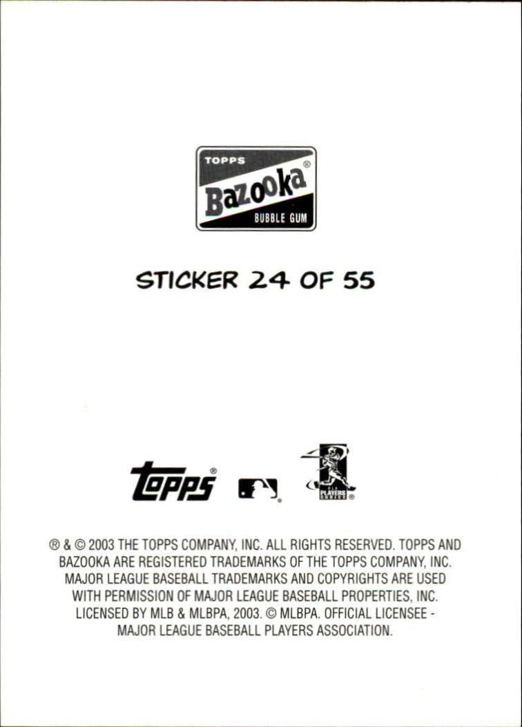 2003 Bazooka 4 on 1 Sticker #24 Mauer/Huber/Stokes/Tracy back image