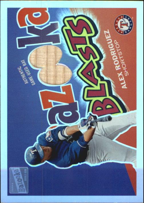 2003 Bazooka Blasts Relics Parallel 25 #AR Alex Rodriguez