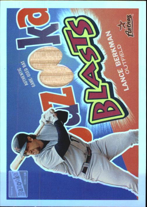 2003 Bazooka Blasts Relics Parallel 25 #LB Lance Berkman