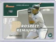 2003 Bowman Draft Prospect Premiums Relics #CC Carl Crawford Bat A