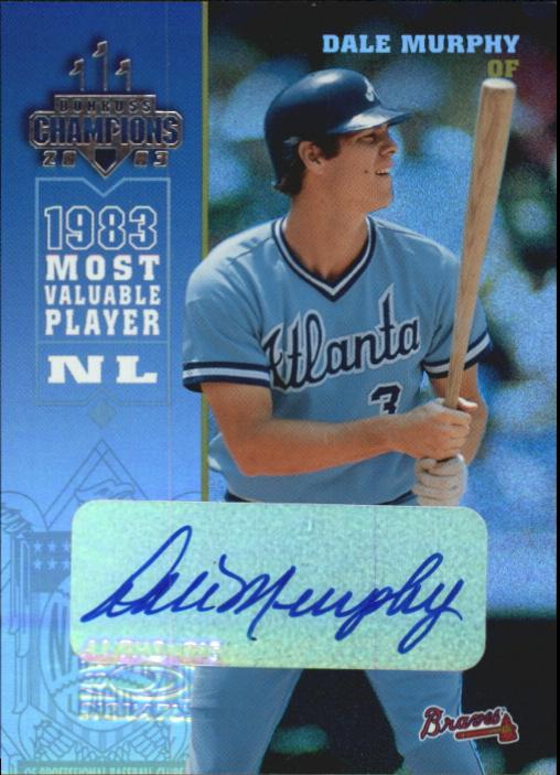 2003 Donruss Champions Autographs #20 Dale Murphy/20