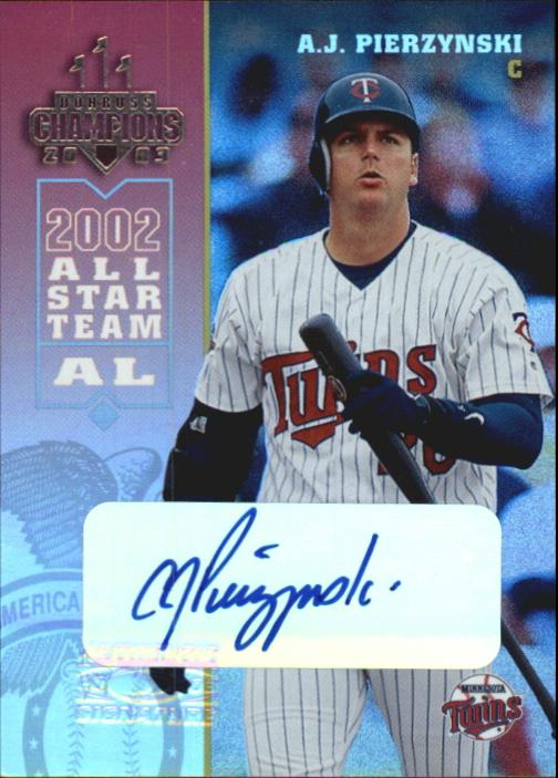 2003 Donruss Champions Autographs #153 A.J. Pierzynski/250