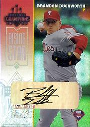 2003 Donruss Champions Autographs #193 Brandon Duckworth/100