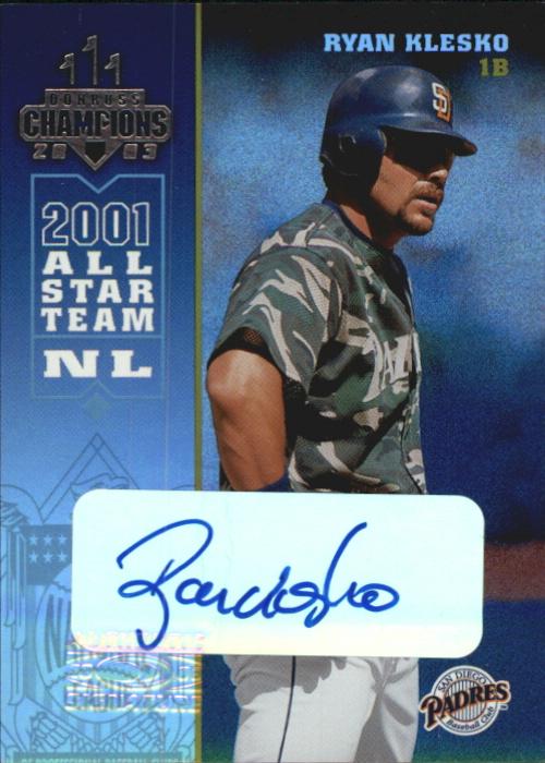 2003 Donruss Champions Autographs #219 Ryan Klesko/20