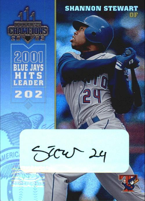 2003 Donruss Champions Autographs #272 Shannon Stewart/25