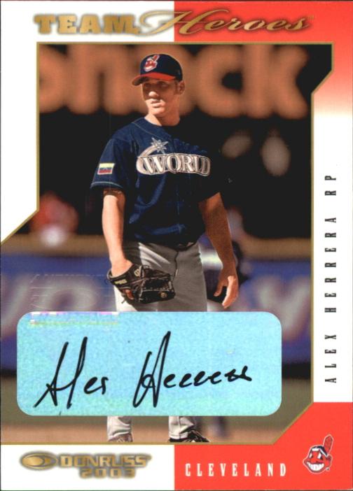 2003 Donruss Team Heroes Autographs #167 Alex Herrera/250