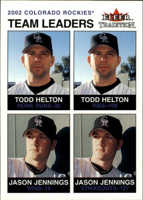 2003 Fleer Tradition #10 T.Helton/J.Jennings TL
