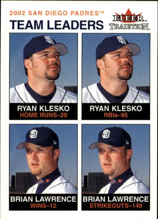 2003 Fleer Tradition #24 R.Klesko/B.Lawrence TL