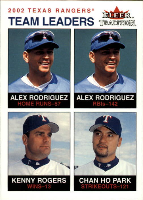 2003 Fleer Tradition #29 A-Rod/Rogers/Park TL