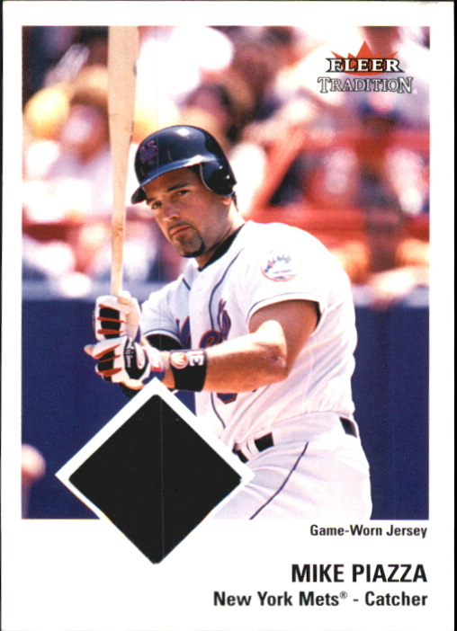 2003 Fleer Tradition Game Used Gold #311 Mike Piazza Jsy
