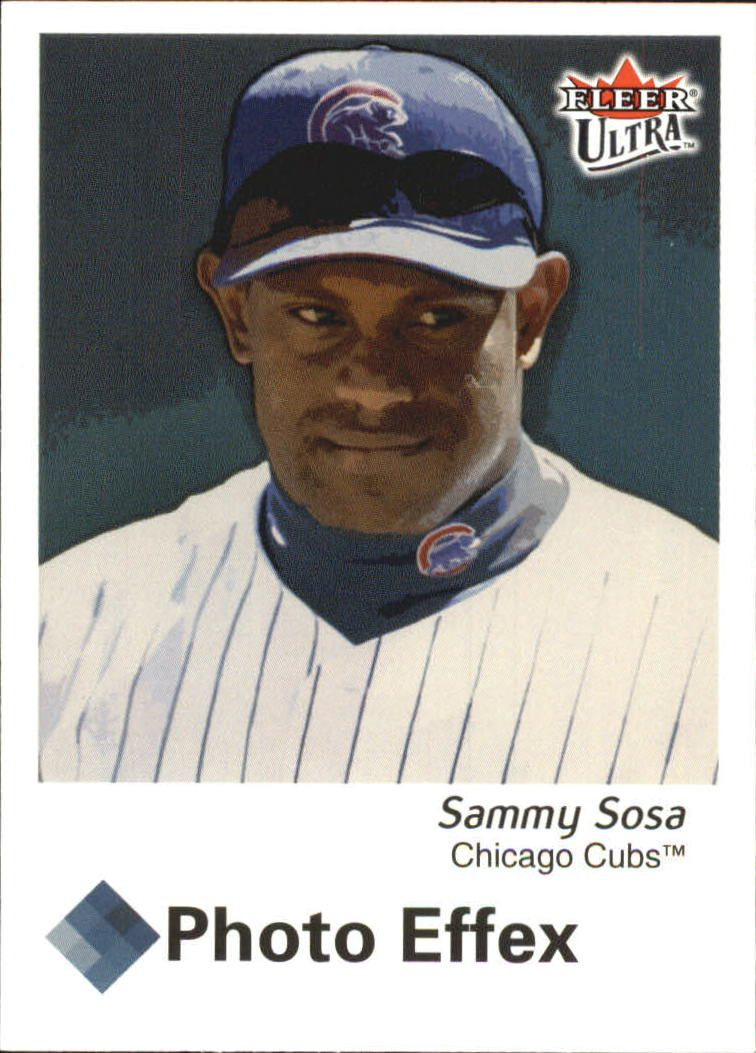 97c3b5182c5 2003 Ultra Photo Effex Chicago Cubs Baseball Card  3 Sammy Sosa