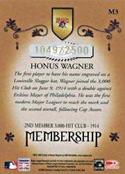 2003 Donruss Classics Membership #3 Honus Wagner back image