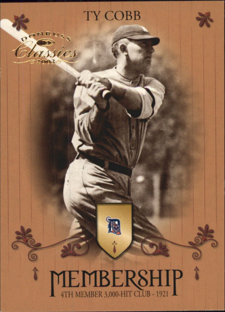 2003 Donruss Classics Membership #12 Ty Cobb