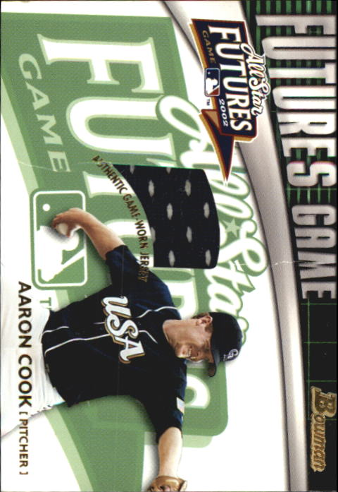 2003 Bowman Futures Game Gear Jersey Relics #AC Aaron Cook