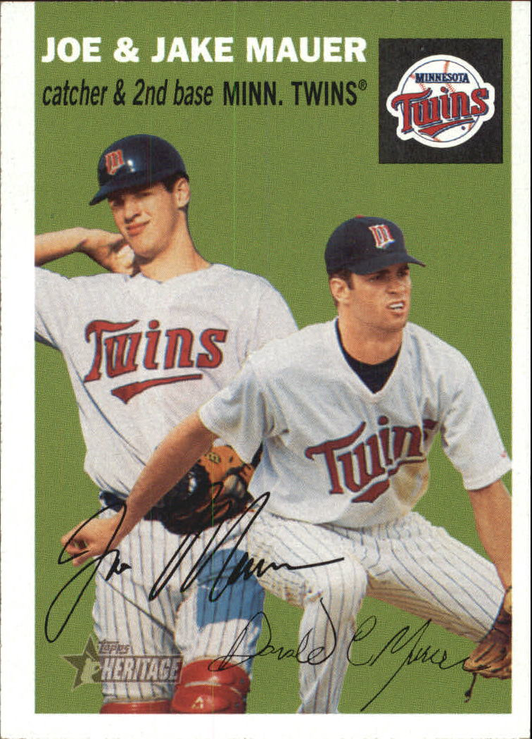 2003 Topps Heritage #139A Mauer Brothers Green