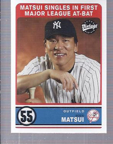 2003 Upper Deck Vintage #288 Hideki Matsui RC