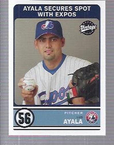 2003 Upper Deck Vintage #308 Luis Ayala RC