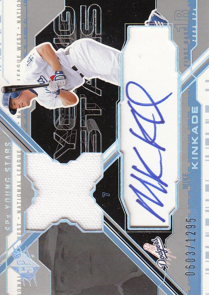2003 SPx Young Stars Autograph Jersey #MK Mike Kinkade/1295