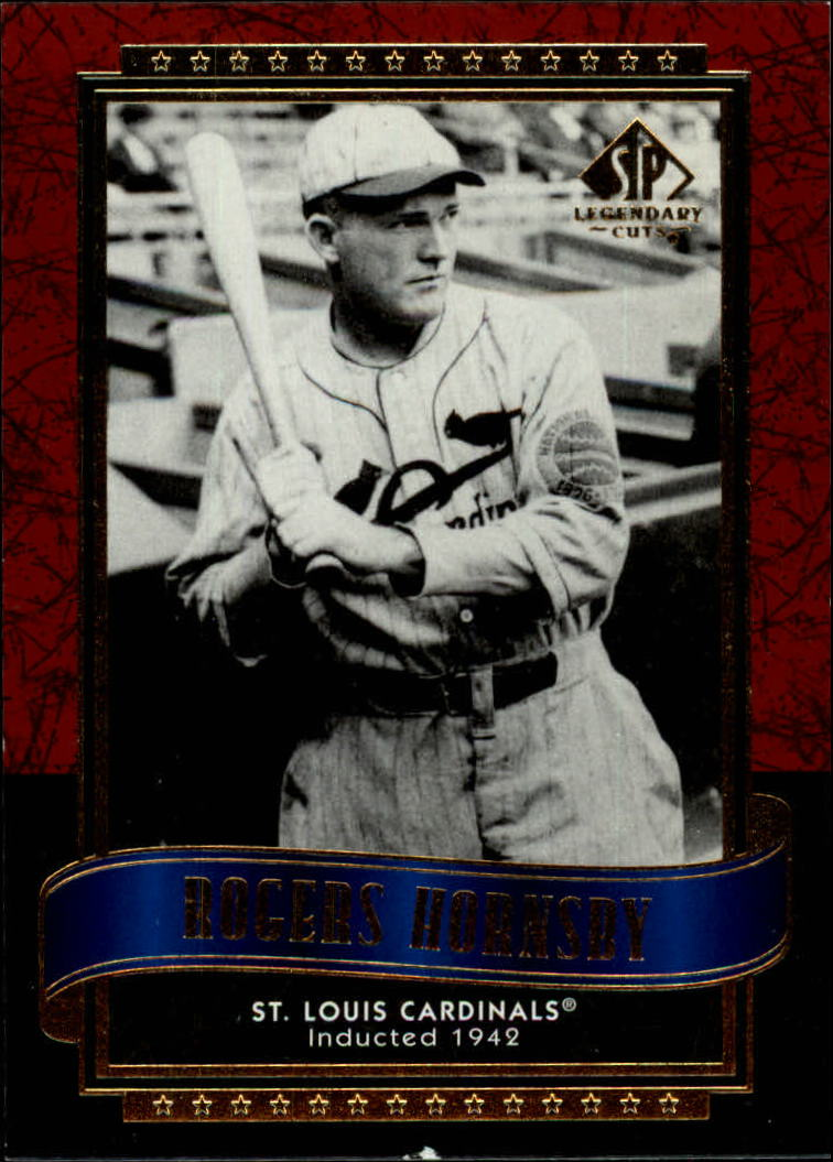 2003 SP Legendary Cuts #107 Rogers Hornsby