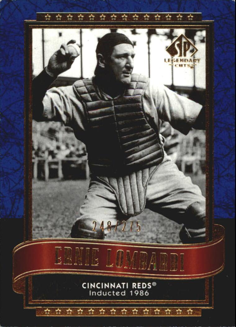 2003 SP Legendary Cuts Blue #40 Ernie Lombardi