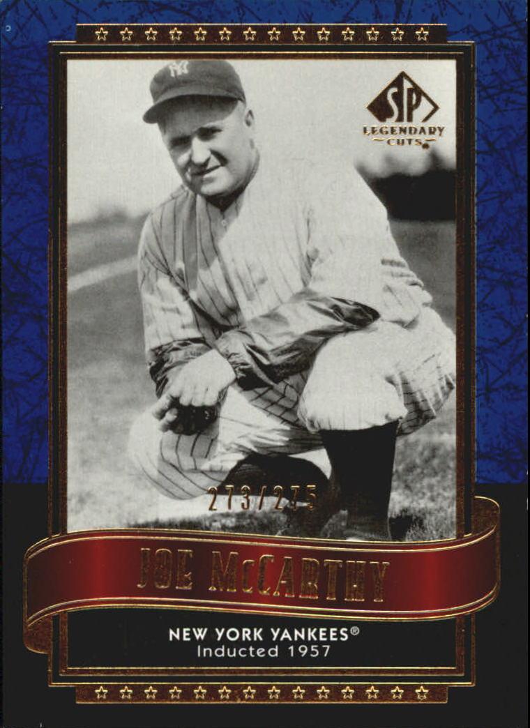 2003 SP Legendary Cuts Blue #63 Joe McCarthy