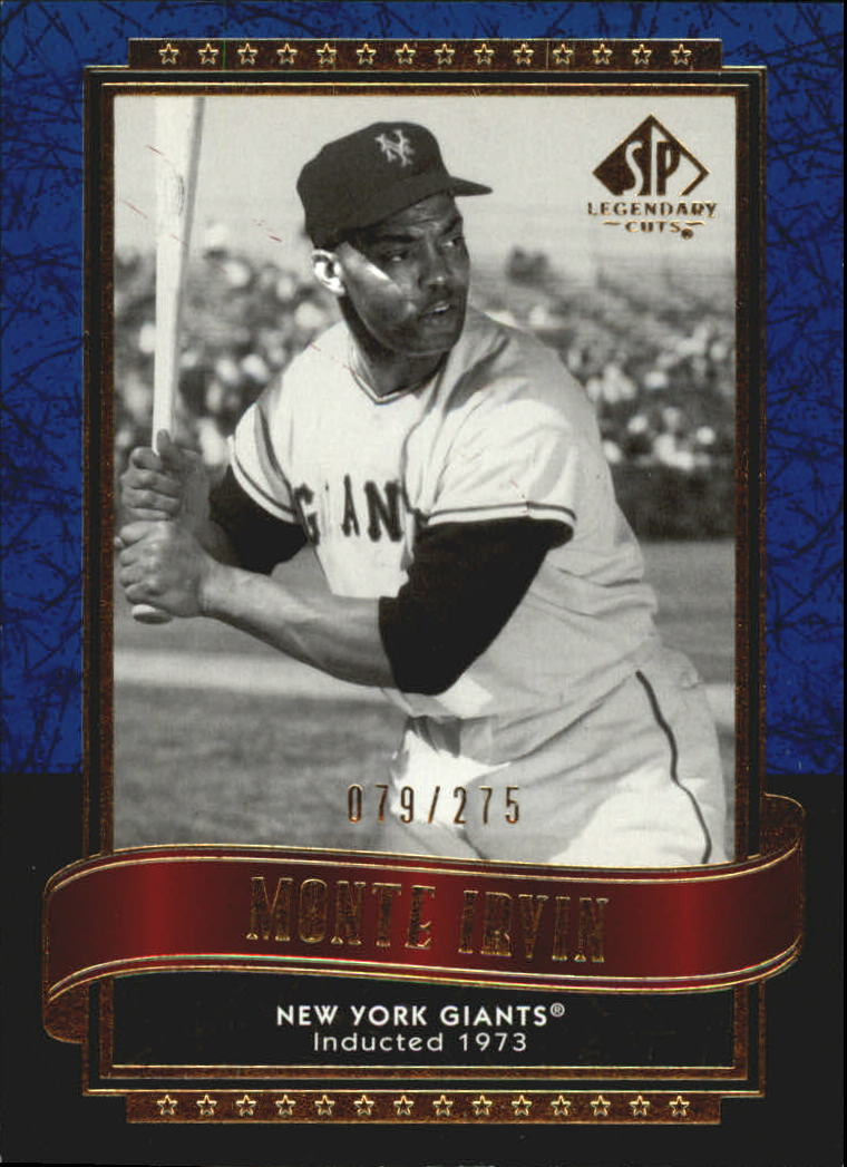 2003 SP Legendary Cuts Blue #93 Monte Irvin