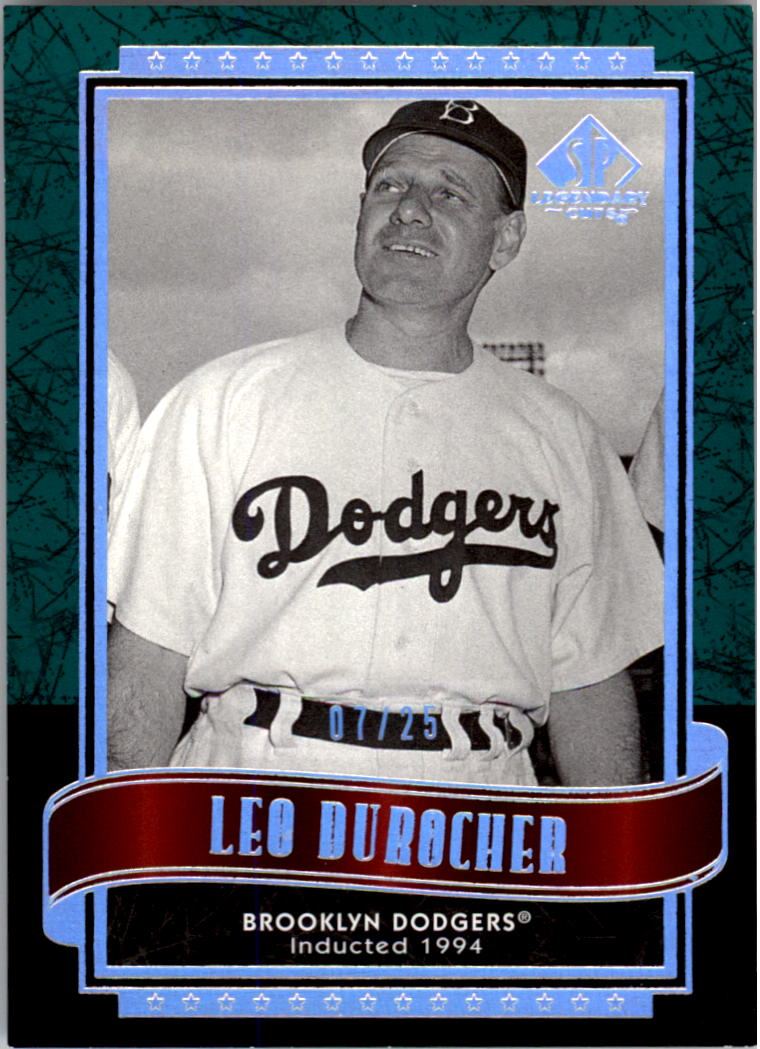 2003 SP Legendary Cuts Green #81 Leo Durocher