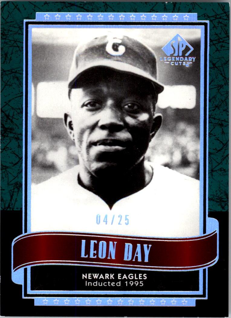 2003 SP Legendary Cuts Green #82 Leon Day