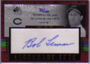 2003 SP Legendary Cuts Autographs #BL1 Bob Lemon/41