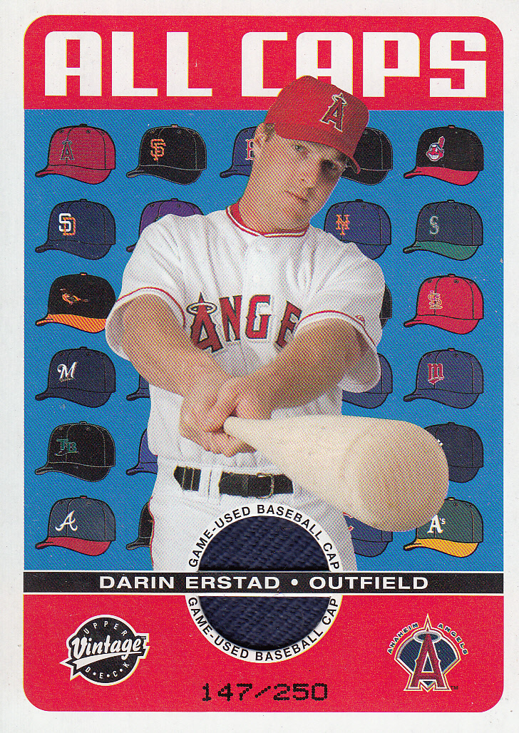 2003 Upper Deck Vintage All Caps #DE Darin Erstad