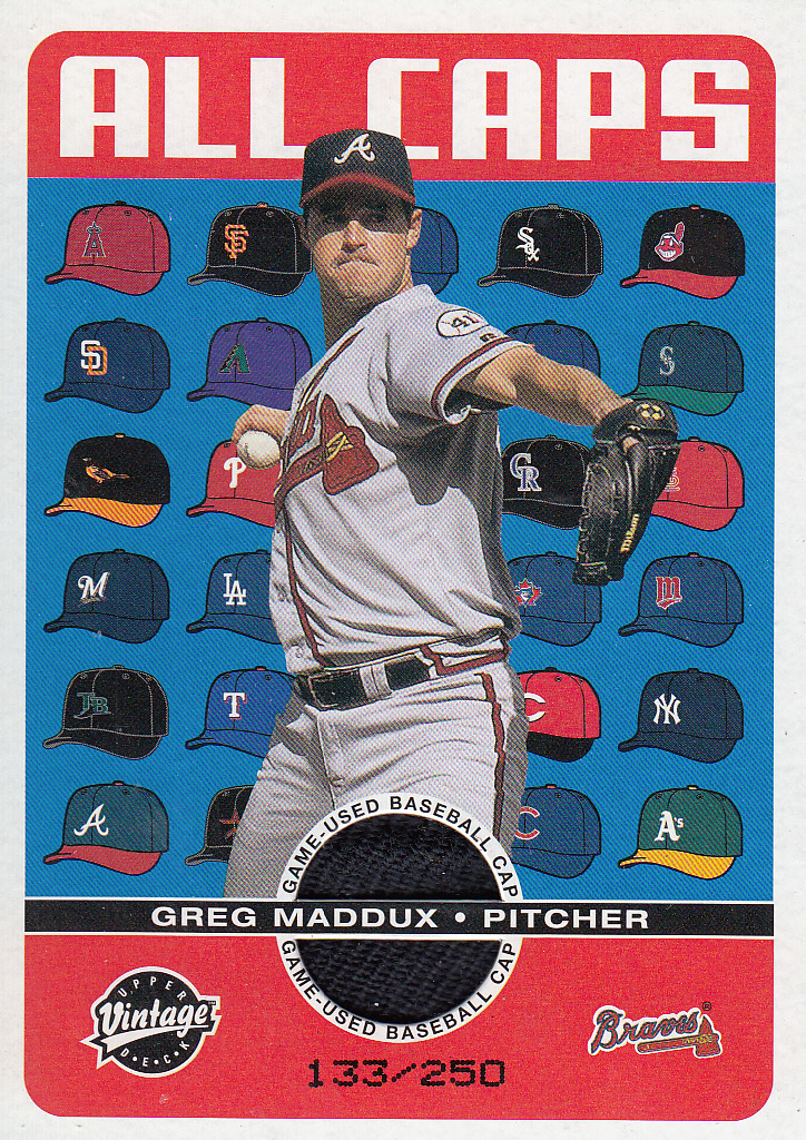 2003 Upper Deck Vintage All Caps #GM Greg Maddux