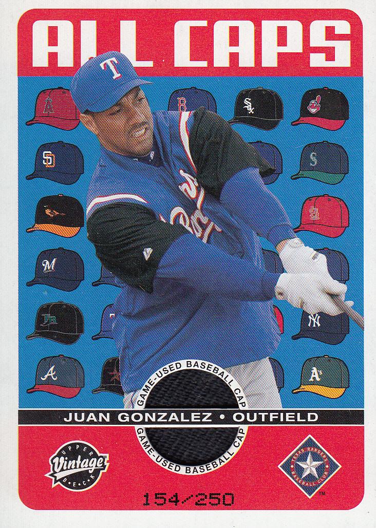 2003 Upper Deck Vintage All Caps #JG Juan Gonzalez