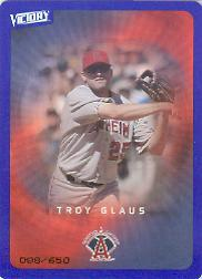 2003 Upper Deck Victory Tier 3 Blue #1 Troy Glaus