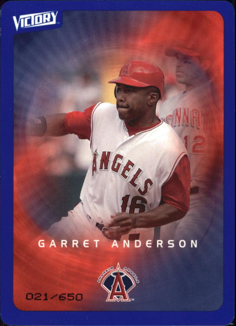 2003 Upper Deck Victory Tier 3 Blue #2 Garret Anderson
