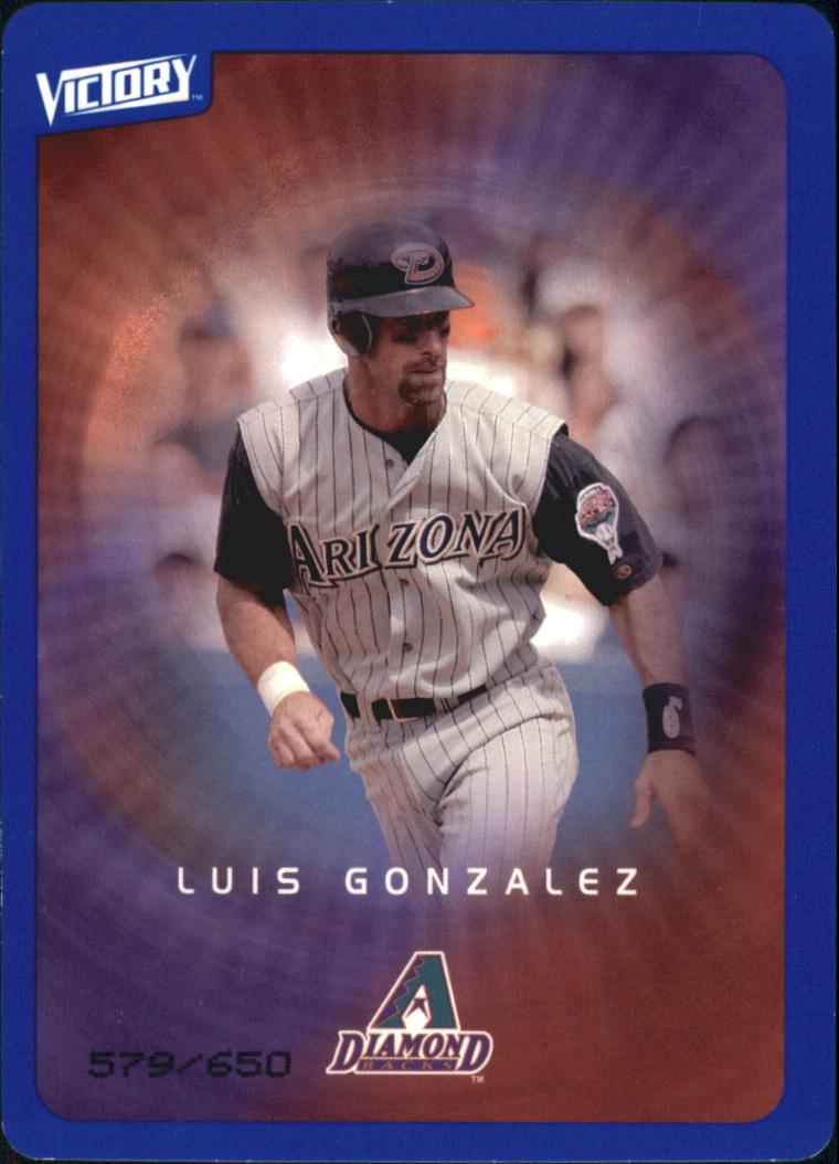 2003 Upper Deck Victory Tier 3 Blue #5 Luis Gonzalez