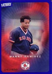 2003 Upper Deck Victory Tier 3 Blue #17 Manny Ramirez