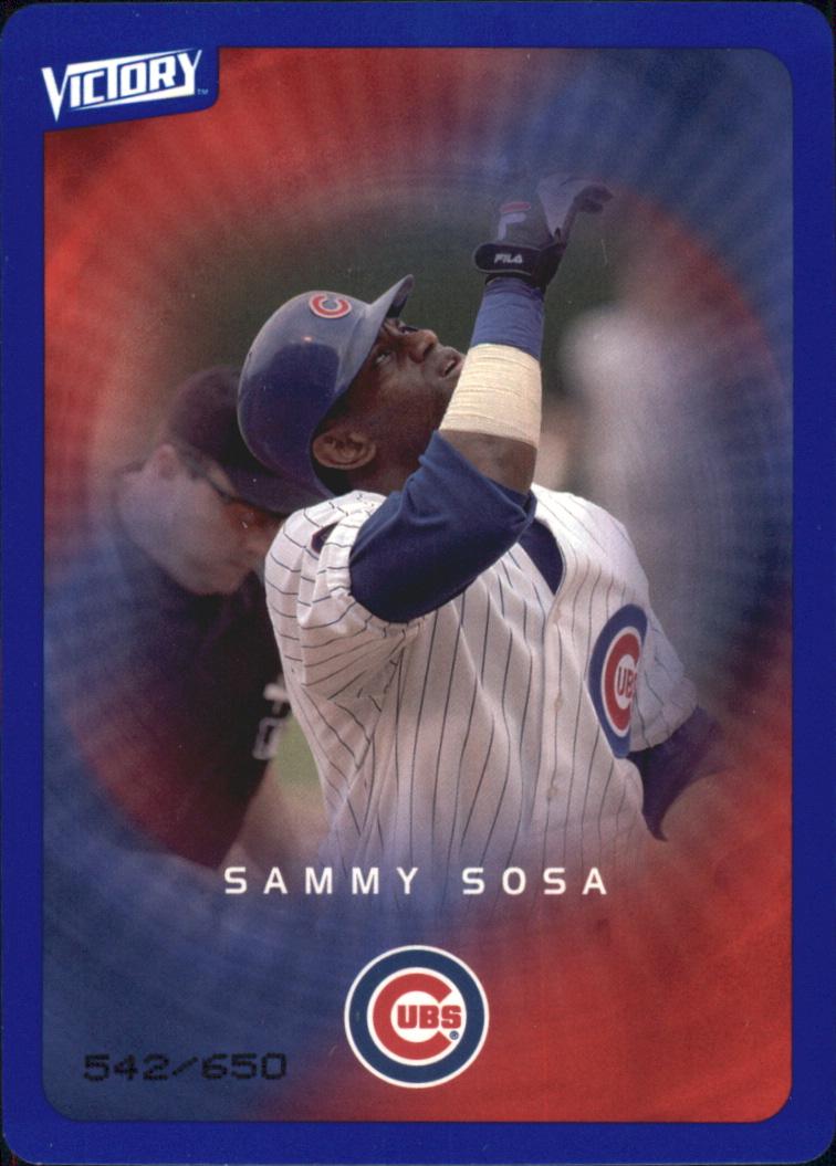 2003 Upper Deck Victory Tier 3 Blue #22 Sammy Sosa