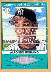 2003 Upper Deck Play Ball Game Used Memorabilia Tier 1 Gold #AS1 Alfonso Soriano Jsy